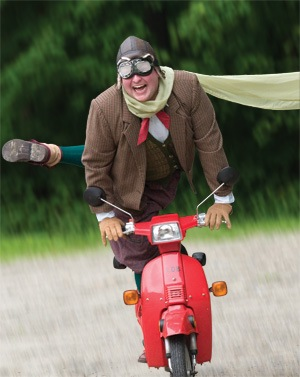 Image result for old fella on scooter
