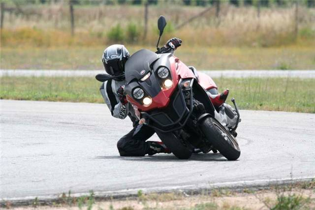 Gilera Fuoco 500 in Action
